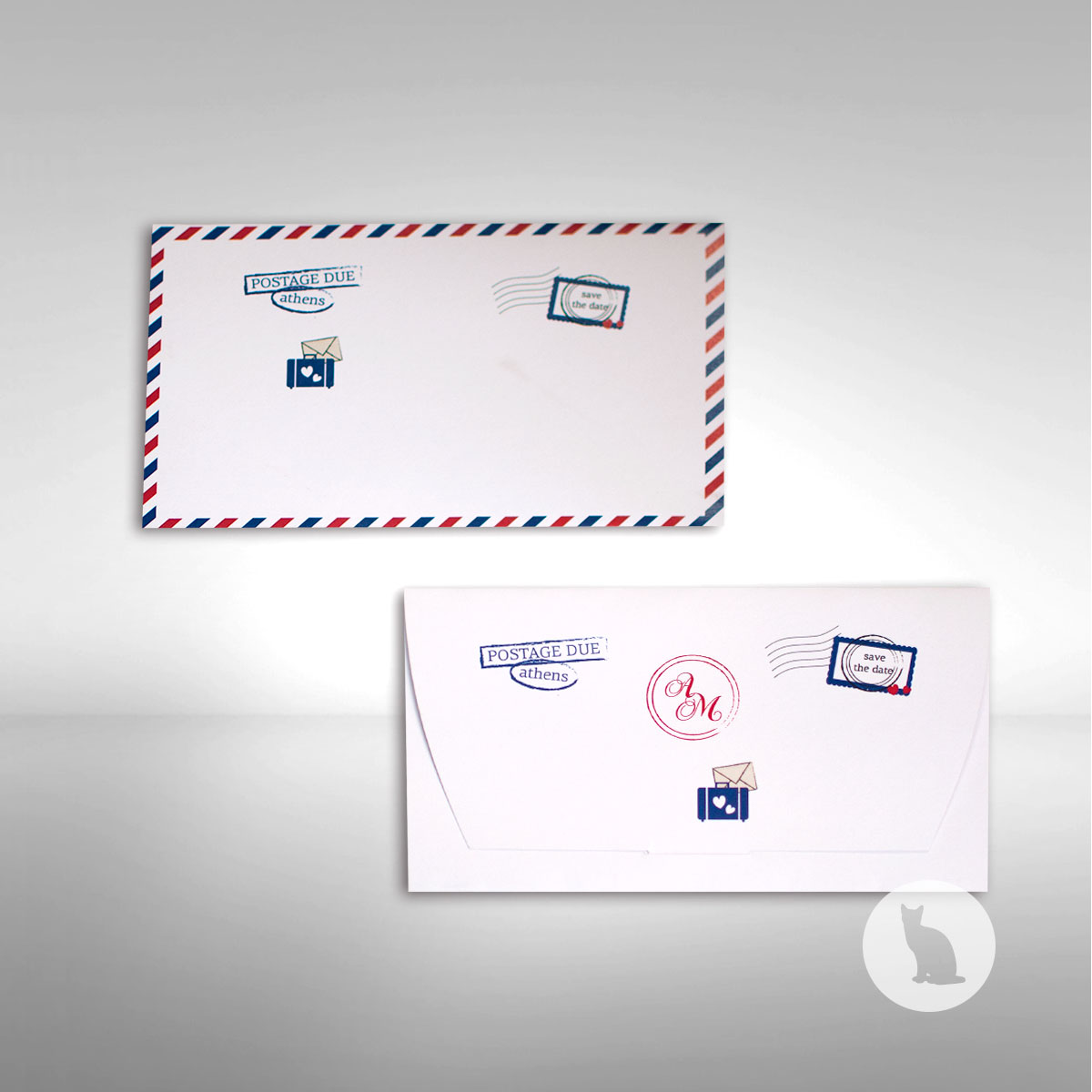 γράμμα, #invitation, #gramma, #vintage, #postage, #wedding, #baptism, #sinnercats, #prosklitiria